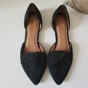 JOIE SUEDE FLAT SHOES - SIZE 37, PRE-OWNED